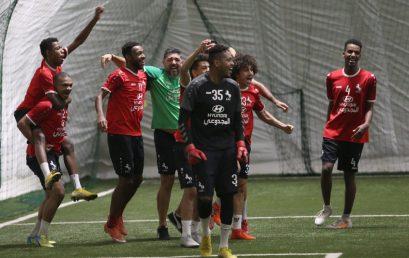 Ettifaq Club was Training in Global Sport park Air Dome