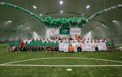 زيارة الجيل الذهبي واعلاميين الرياضيين للمنتزه الرياضي العالمي